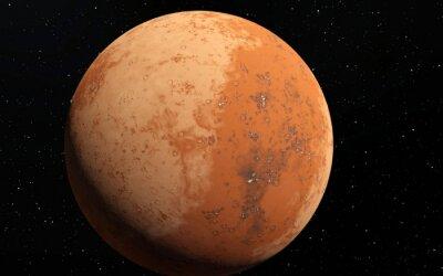Adesivo Mars illustrazione scientifica - paesaggio planetario