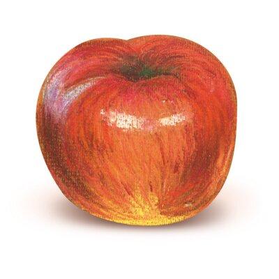 Adesivo mela rossa verniciata con percorso di clipping