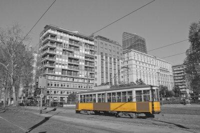 Adesivo Milano e tram in lombardia italia milano e in treno a Milano Italia