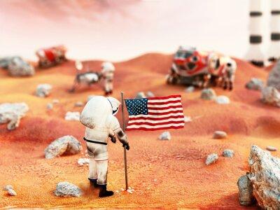 Adesivo missione su Marte con equipaggio