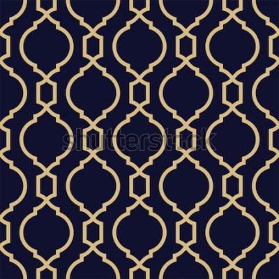 Adesivo Modello astratto in stile arabo. Sfondo vettoriale geometrico senza soluzione di continuità.