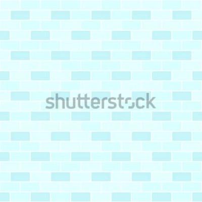 Adesivo Modello di muro di mattoni ciano. Sfondo di mattoni vettore senza soluzione di continuità