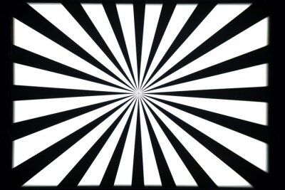 Adesivo modello di prova in bianco e nero