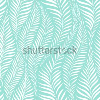 Adesivo Modello foglia di palma. Illustrazione vettoriale Elemento decorativo