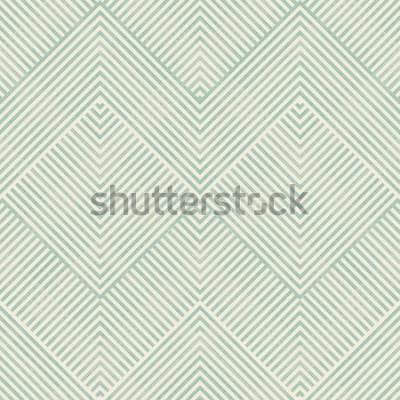 Adesivo Modello geometrico astratto senza cuciture in turchese e beige sul fondo di struttura. Il modello senza fine può essere utilizzato per piastrelle di ceramica, carta da parati, linoleum, tessuto, sfond