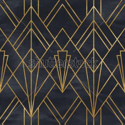 Adesivo Modello geometrico senza cuciture su struttura di carta. Sfondo Art Deco