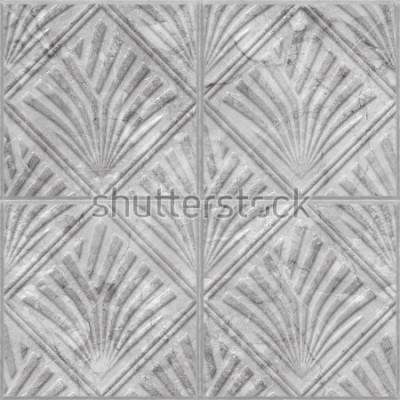 Adesivo Modello geometrico su struttura senza cuciture delle mattonelle di marmo e della ceramica, illustrazione 3d