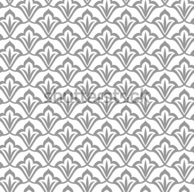Adesivo Modello ornamentale. Modello arabo senza soluzione di continuità Sfondo marocchino.