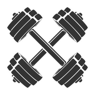 Adesivo Modello per icona dello sport, simbolo, logo o altro marchio. Illustrazione retrò moderna.