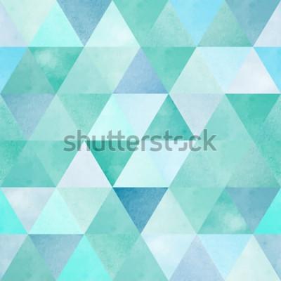 Adesivo modello senza cuciture dell'acquerello con triangolo geometrico vintage