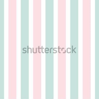 Adesivo Modello senza cuciture della banda geometrica di colore rosa e verde. Illustrazione festiva Carta da parati linea verticale. Elegante sfondo avvolgente.