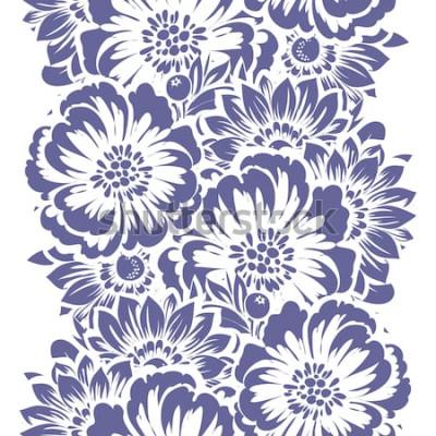 Adesivo Modello senza cuciture di eleganza astratta con fondo floreale
