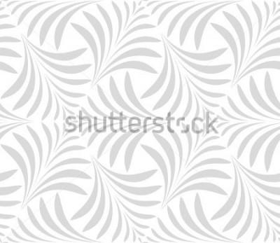 Adesivo Modello senza soluzione di continuità Sfondo elegante floreale Ornamento grigio e bianco. Motivo grafico moderno