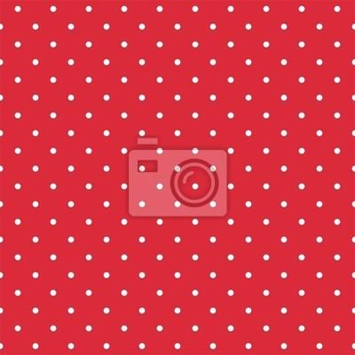 Modello Tile Vettoriale Con Pois Bianchi Su Fondo Rosso Adesivi Per