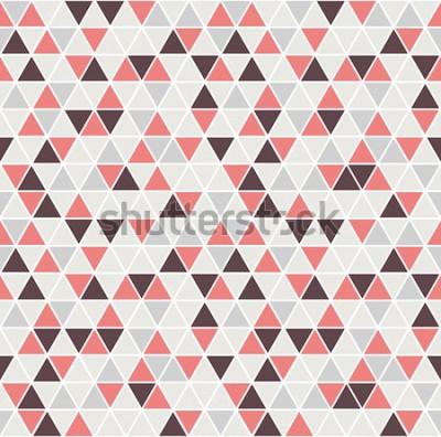 Adesivo Modello triangolo senza soluzione di continuità. Sfondo vettoriale Trama astratta geometrica