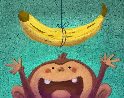 Adesivo mono y Plátano