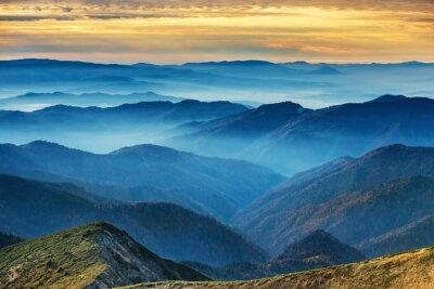 Adesivo montagne blu e colline