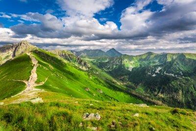 Adesivo Monti Tatra picchi in giornata di sole
