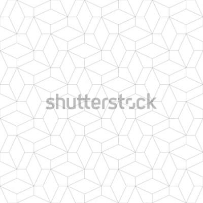 Adesivo Motivo geometrico astratto con attraversamento di linee sottili. Elegante struttura in colore grigio. Modello lineare senza soluzione di continuità.