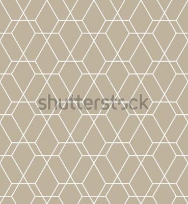 Adesivo Motivo geometrico astratto con linee. Uno sfondo vettoriale senza soluzione di continuità. Motivo grafico moderno.