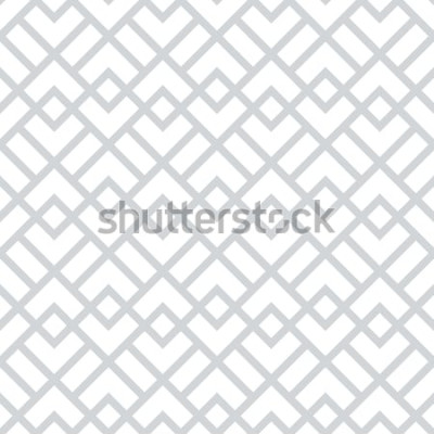 Adesivo Motivo geometrico astratto con quadrati, rombi. Uno sfondo vettoriale senza soluzione di continuità. Motivo grafico grigio e bianco.
