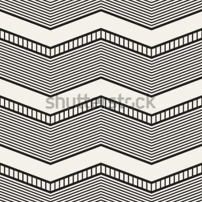 Adesivo Motivo geometrico senza soluzione di continuità Strisce a zig zag. Trama grafica vettoriale