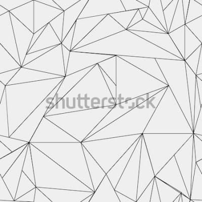 Adesivo Motivo minimalista bianco e nero geometrico, triangoli o vetrate. Può essere usato come sfondo, sfondo o trama.
