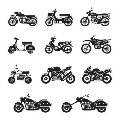 Adesivo Motociclisti, ciclisti, in bianco e nero, Sagoma