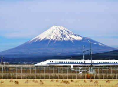 Adesivo Mt. Fuji e il Bullet Train