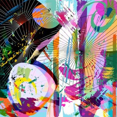 Adesivo multicolore composizione astratta, formato vettoriale