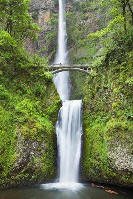Adesivo Multnomah Falls e il Columbia River Gorge, Oregon, Stati Uniti d'America