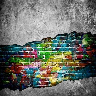 Adesivo muro di mattoni di cracking