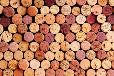 Adesivo Muro di Sugheri del vino