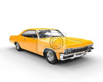 Adesivo muscolo Classic yellow car - illuminazione studio colpo