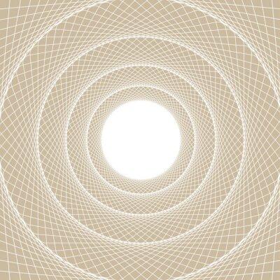 Adesivo nastro tubolare Luce, una vista centrata dall'interno di una galleria web, con un bianco nucleo aperto