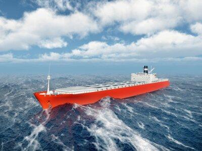 Adesivo Nave da carico in oceano in tempesta