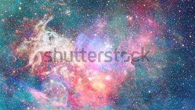 Adesivo Nebulosa nello spazio. Sfondo cosmico. Elementi di questa immagine forniti dalla NASA.