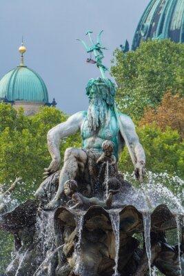 Adesivo Neptunbrunnen und Berliner Dom, Berlino