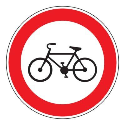 Adesivo nessun segno di biciclette consentito
