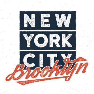 Adesivo New York City Brooklyn - Tee Design per la stampa