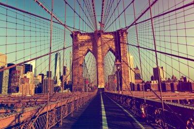 Adesivo New York City dal Ponte di Brooklyn