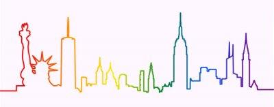 Adesivo New York City Gay-Friendly Skyline Profile