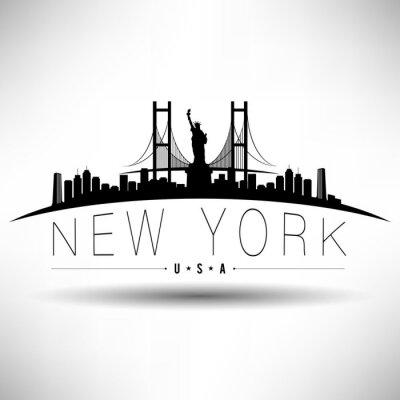 Adesivo New York City Typography design