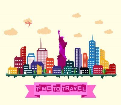 Adesivo New York skyline della città