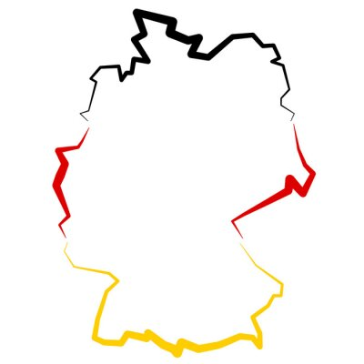 Adesivo Niemcy - mappa