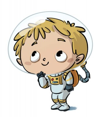 Adesivo niño astronauta