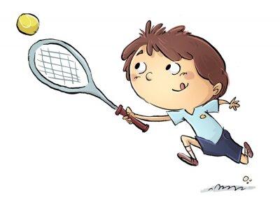 Adesivo Niño jugando un tenis