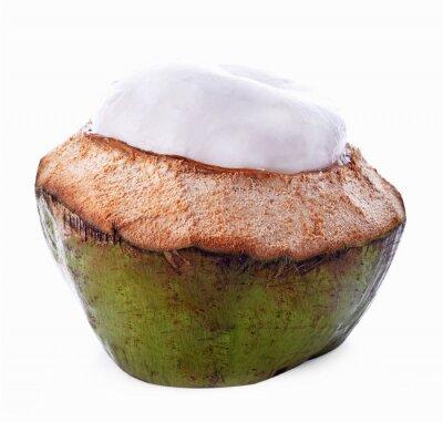 Adesivo Noce di cocco isolato su sfondo bianco