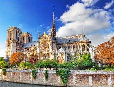 Adesivo Notre Dame de Paris Cathedral.Paris. Francia.