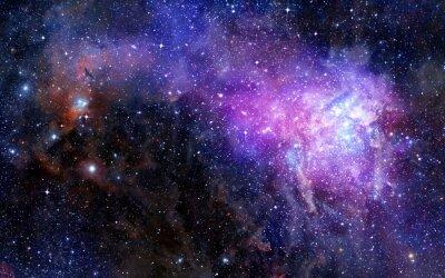 Adesivo nube di gas nebulosa nello spazio profondo esterno